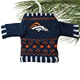Denver Broncos Knit Sweater Ornament (Set of 3) at Amazon.com