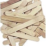 Natural Jumbo Wood Craft Sticks - 100 pcs.