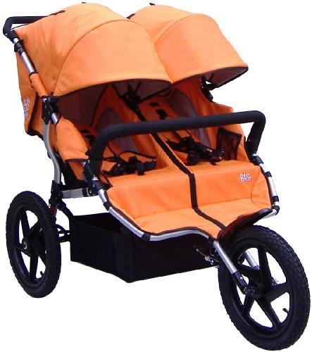 Tike Tech Double All Terrain X3 Sport Stroller, Autumn Orange