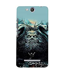 printtech Awesome Diety Summon God Back Case Cover for Micromax Canvas Juice 3 Q392