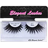 Elegant Lashes #301 Thick Long Black Human Hair False Eyelashes for Drag Queen Halloween Dance Rave Costume