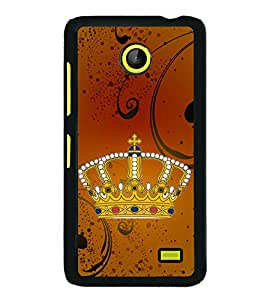 Crown 2D Hard Polycarbonate Designer Back Case Cover for Nokia X :: Nokia Normandy :: Nokia A110 :: Nokia X Dual SIM RM-980 with dual-SIM card slots