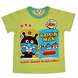 アンパンマン 天竺 絵本風 めくる 半袖Tシャツ 夏物 男の子 女の子 Anpanman (グリーン90cm)