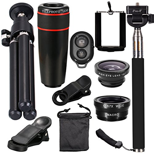xcsource-mini-lens-kit-for-iphone-and-android-smartphones-12-items