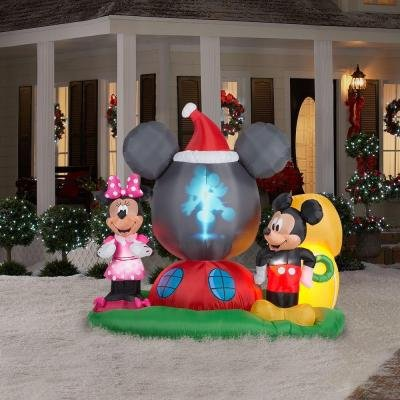 Mickey Minnie Mouse Christmas Inflatables | Christmas Wikii