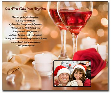 our first christmas together 8x10 poem print you add the photo christmas