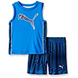 PUMA Baby Muscle Short Set, Blue, 18 Months