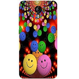 Casotec Cheerful Smiley Design 3D Printed Back Case Cover for Micromax Canvas Nitro 4G E455