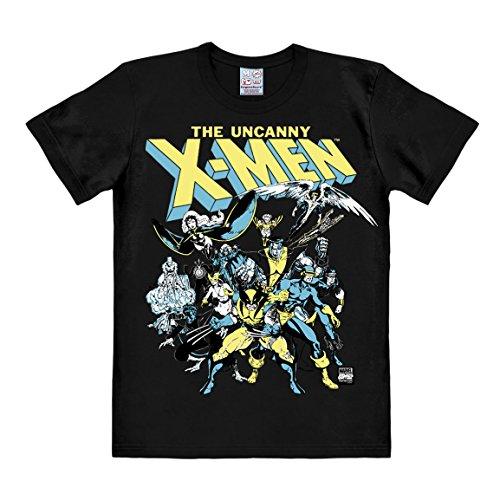 T-shirt X-Men - Il gruppo - maglia Marvel Comics - X-Men - The Group - maglietta girocollo di LOGOSHIRT - nero - design originale concesso su licenza, taglia M
