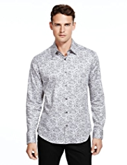 Autograph Pure Cotton Paisley Print Shirt