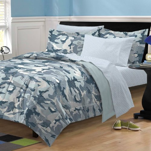 My Room Geo Camo Camouflage Comforter Set, Blue, Full (Camouflage Comforter Set Full compare prices)