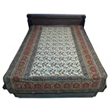 "60X90"" Bagru Print Block Print Double Bed Spread- Double Bed Cover- Double Bed Sheet - Online Shopping For Home..."