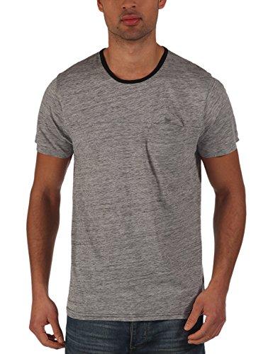 Bench - T-Shirt Yardang, Maglia a maniche lunghe Uomo, Grigio (Grey Marl), Small (Taglia Produttore: Small)