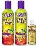 Beautiful Textures Naturally Straight Anti-Reversion Shampoo 12oz , Conditioner 12oz & Palmer's Body Oil 1.7oz