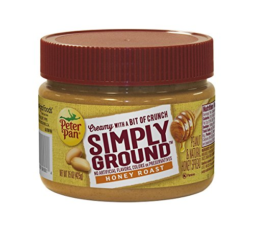 Peter Pan Simply Ground Peanut Butter, Honey Roasted, 15 Ounce (Peanut Butter Peter Pan Honey compare prices)