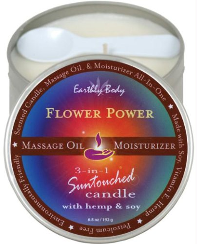 Earthly Body Suntouched Hemp Candle - 6 Oz Round Tin Flower Power