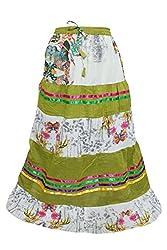 Indiatrendzs Women Fashion Printed Cotton Summer Casual Long Skirt