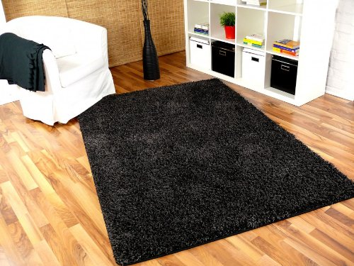 imut gesch ft hochflor shaggy teppich casa mix schwarz grau in 24 gr en get rabate. Black Bedroom Furniture Sets. Home Design Ideas