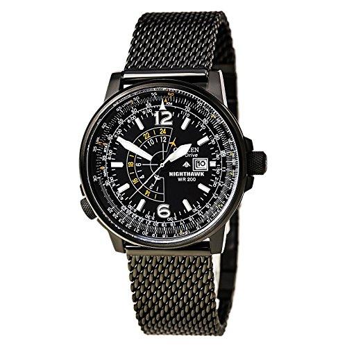 citizen-eco-drive-nighthawk-ss-al-quarzo-quadrante-nero-bj-7009-58e-orologio-da-uomo