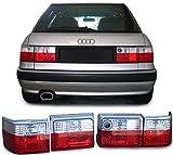 Audi 80 B3 + B4 Avant R�CKLEUCHTEN ROT WEISS KRISTALL