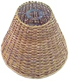 "10"" Round Cane Hanging Lamp Shade"