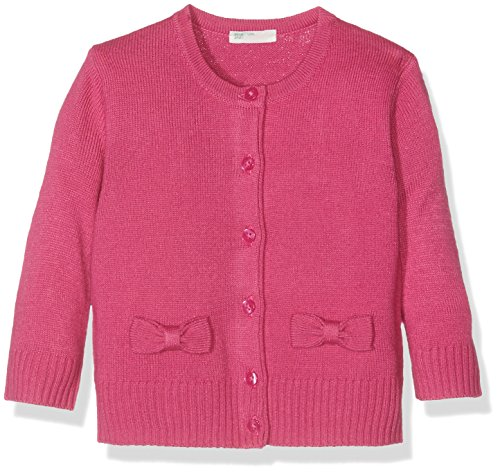 United Colors of Benetton 10P1C518N, Cardigan Bimbo, Rosa (Bright Pink), 12 Mesi (Taglia Produttore: 74)