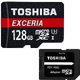 東芝 Toshiba 超高速U3 4K対応 microSDXC 128GB 専用SDアダプ付 【3年保証】 [並行輸入品]