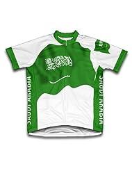 Saudi Arabia Flag Short Sleeve Cycling Jersey for Women