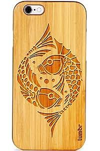 Lumbr Koi Fish Art 2 Classic Wooden Case for Apple iPhone 5/5s/SE-Black