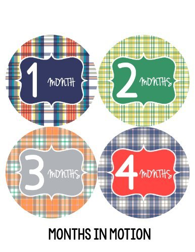 Months in Motion 130 Monthly Baby Stickers Milestone Age Sticker Photo Prop