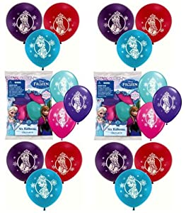 "Disney Frozen 12"" Latex Balloons - 6 count (Pack of 2) from Disney Frozen Party Supplies"