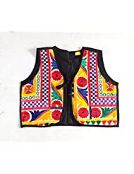 Megh Craft Women's Navratri Wear Cotton Embroidery Shrug - Indian Kutch Embroidered Jacket