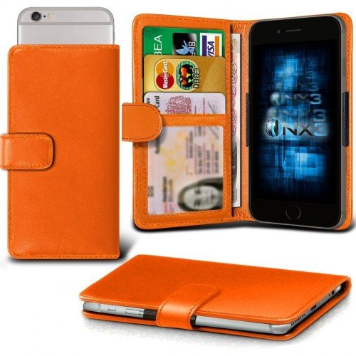 Samsung Galaxy J1 Ace Adjustable Spring Wallet ID Card Holder Case Cover (Orange) Plus Free Gift, Screen Protector and a Stylus Pen, Order Now Best Valued Phone Case on Amazon! By FinestPhoneCases (Samsung Ace 2x compare prices)