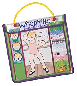 Wooden Doll Sets To Create Your Own Clothing Fashions To Foster Creative Thinking - Woodkins (Ballet) 3