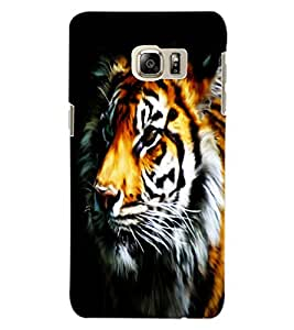 ColourCraft Tiger Look Design Back Case Cover for SAMSUNG GALAXY NOTE 5 EDGE