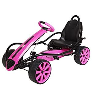 Kiddi-o by Kettler Sport Kid Racer Pedal Car, Pink
