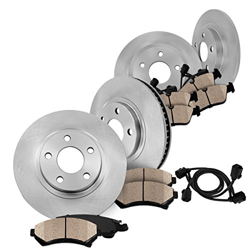 FRONT 295 mm + REAR 300 mm Premium OE [4] Rotors + [8] Quiet Low Dust Ceramic Brake Pads w/ Sensors CK002951 (Tires W211 compare prices)