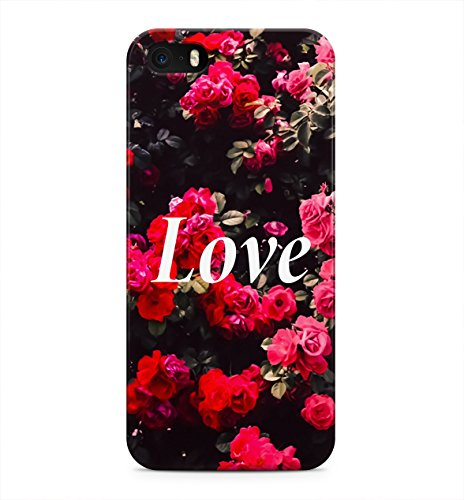 Love Quote Red Roses Floral Tumblr Vintage Indie Boho Hard Plastic Snap-On Case Skin Cover For iPhone 5 / iPhone 5s