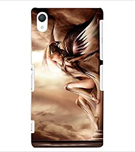 ColourCraft Lovely Angel Design Back Case Cover for SONY XPERIA Z2