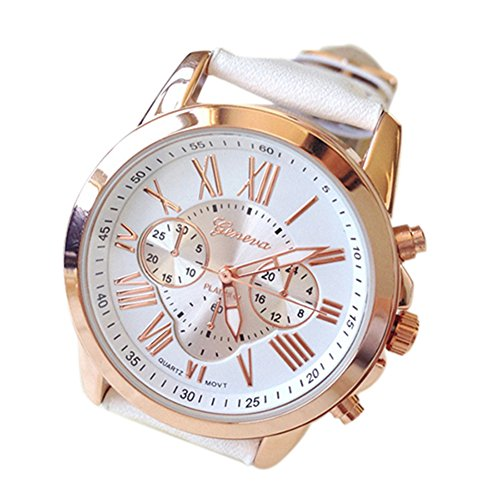 Geneva Women's Fashion Classic Leather Quartz Wrist Watch