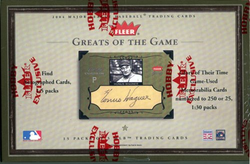 2004 Fleer Greats Baseball Card Unopened Hobby Box
