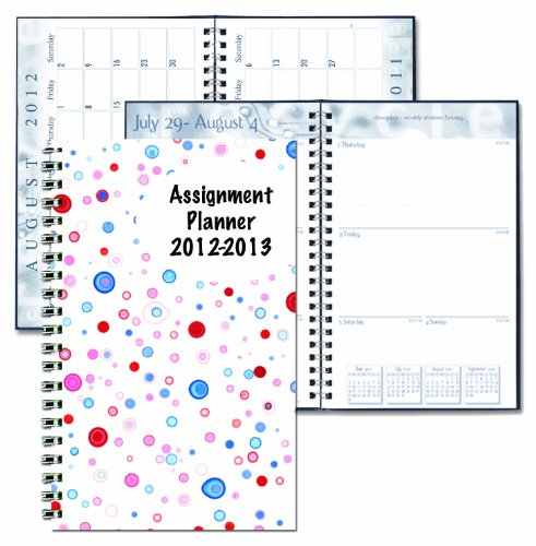 House Of Doolittle Academic Weekly Planner, Student Assignment Book 13 Months August 2012 To August 2013, 5 X 8 Inch, Dot Design Recycled Materials Made In The Usa (Hod274Rtg57)