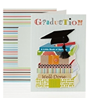 Graduation Books Greetings Card