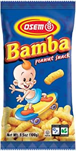 Osem Bamba Snacks, Peanut Flavored, 3.5-Ounce Packages (Pack of 24)