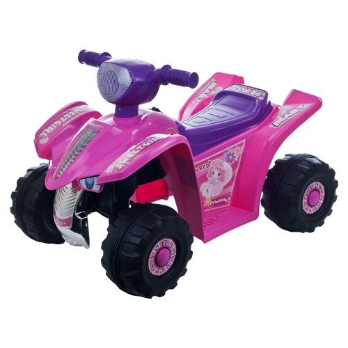 Lil' Rider Princess Mini Quad Four Wheeler Ride-On Car, Pink