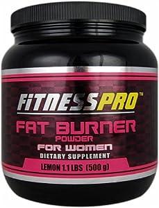 Fitness Pro Lab Fat Burner Powder for Women, Lemon, 500-Grams