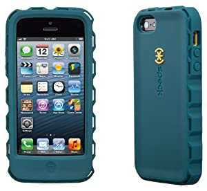Speck Products SPK-A1861 ToughSkin Case with Belt Clip for iPhone 5 - Retail Packaging - Bayou Blue/Butternut Squash Orange