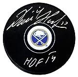 Dominik Hasek Signed Buffalo Sabres NHL Logo Hockey Puck w/HOF'14