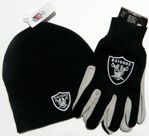 Oakland Raiders Glove Hat Set