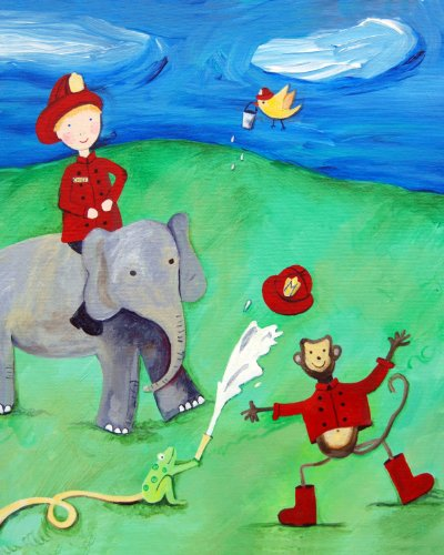 Cici Art Factory Wall Art, Animal Fire Squad, Small - 1